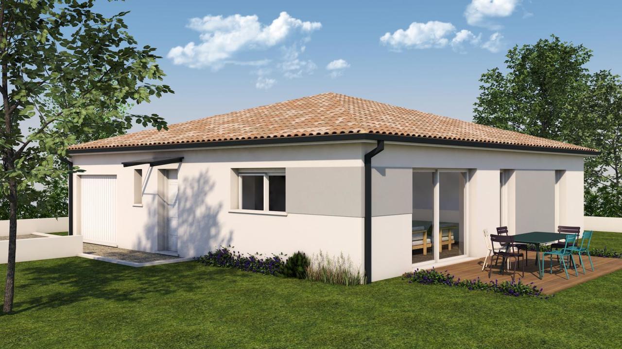 maison de type 4 plain pied constructeur de maisons toulouse. Black Bedroom Furniture Sets. Home Design Ideas