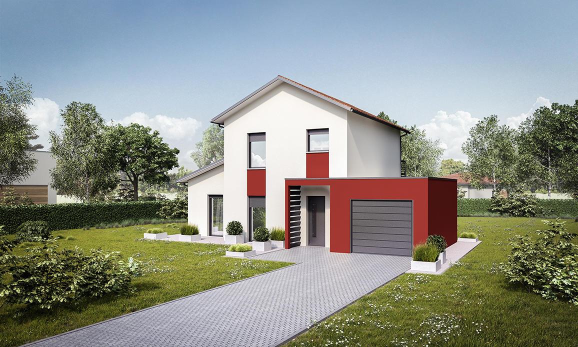 maison de 132 m2 constructeur de maisons toulouse. Black Bedroom Furniture Sets. Home Design Ideas