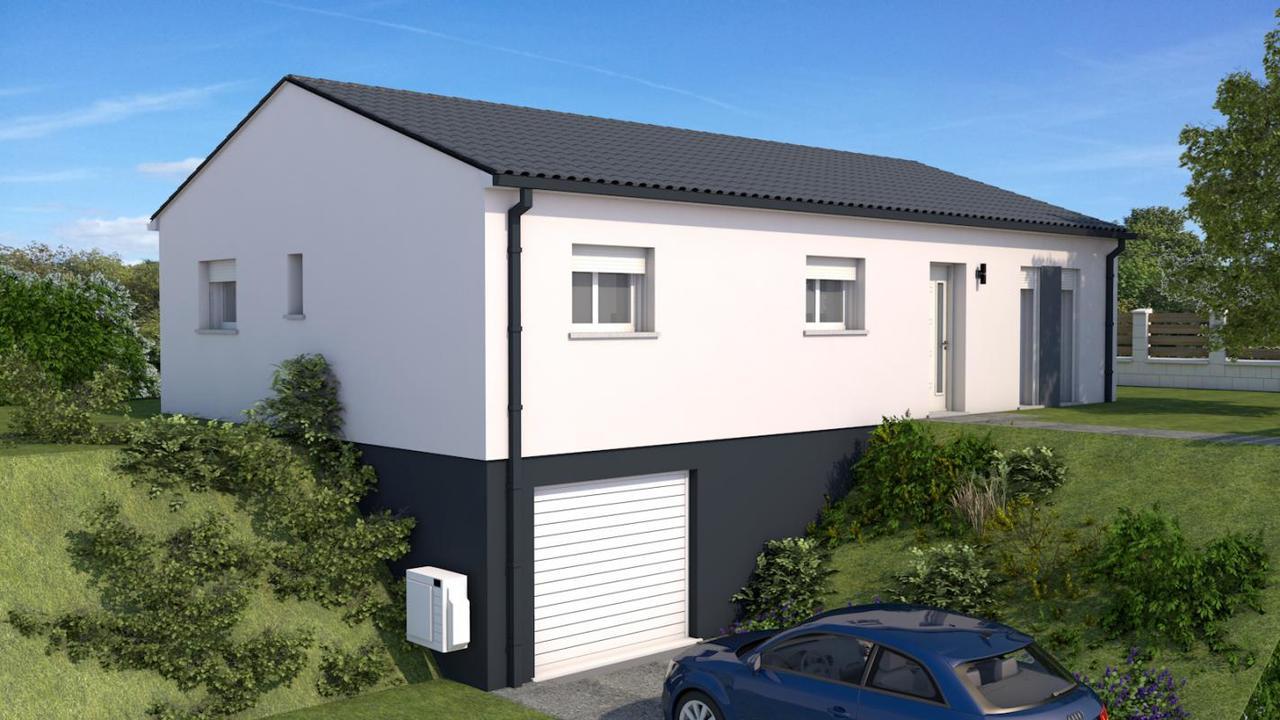 maison sur sous sol neuve constructeur de maisons agen. Black Bedroom Furniture Sets. Home Design Ideas