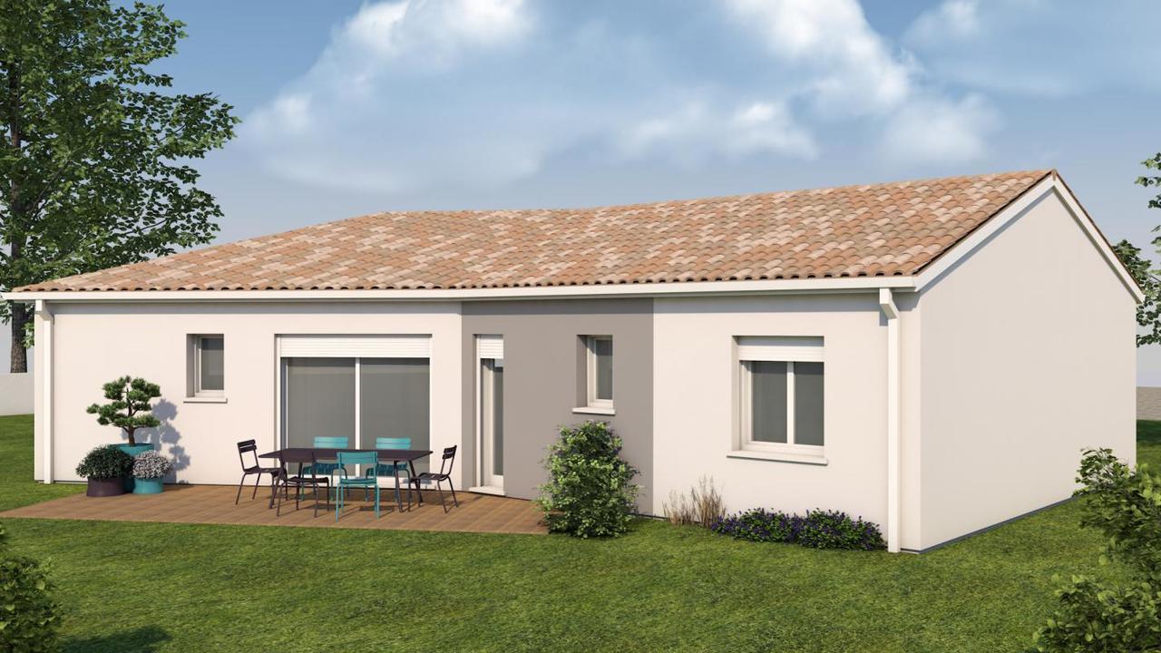 Maison de 90 m2 de plain pied constructeur de maisons for Prix moyen m2 construction neuve rt 2012