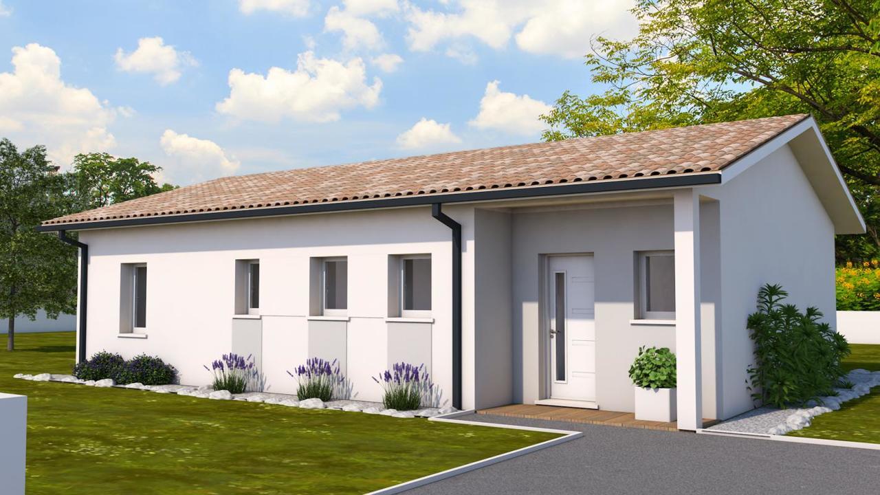 maison de plain pied de type 4 constructeur de maisons toulouse. Black Bedroom Furniture Sets. Home Design Ideas