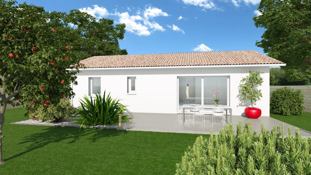 Maison Plain pied moderne à Saint-caprais de Bordeaux ...