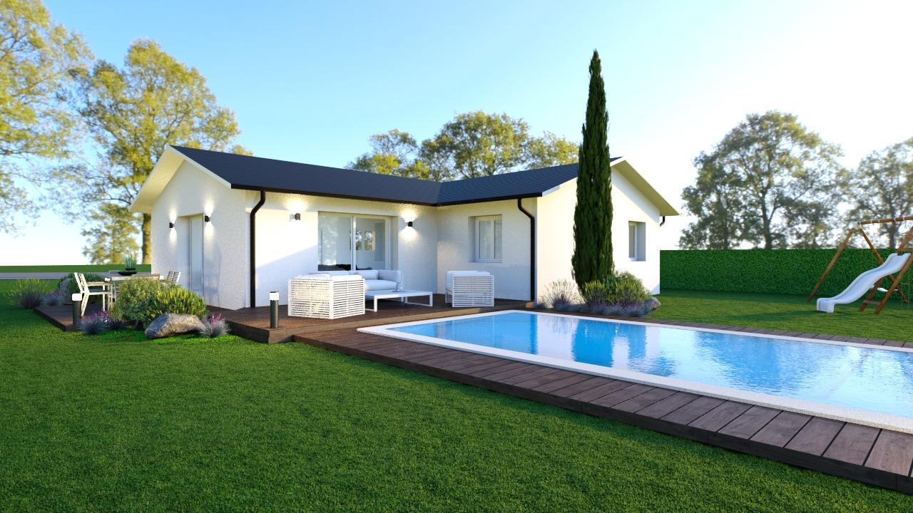 Belle maison neuve moderne constructeur de maisons toulouse - Belle maison moderne ...
