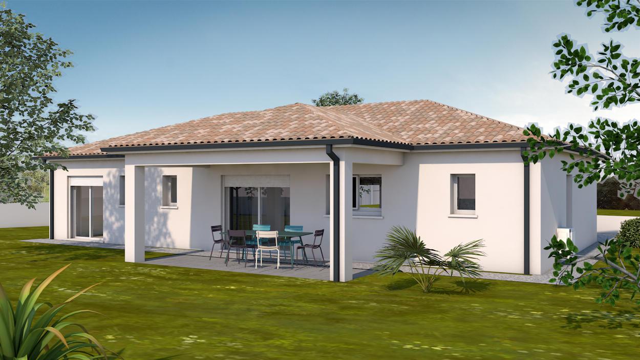 Villa contemporaine garage constructeur de maisons toulouse - Constructeur maison contemporaine toulouse ...