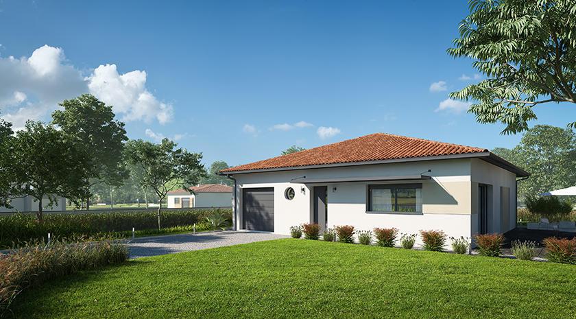 Maison 3 chambres constructeur de maisons bordeaux for Constructeur maison bordeaux