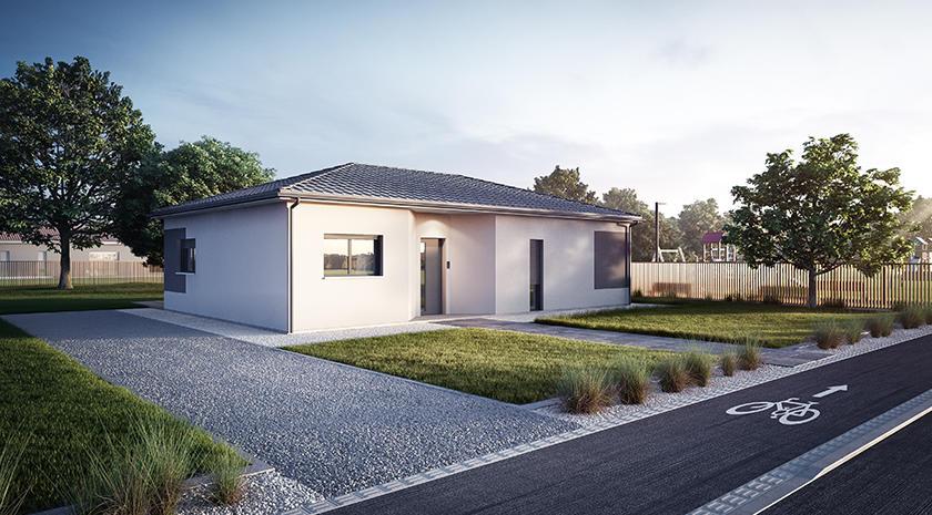 maison t5 contemporaine 120m entre salles et mios constructeur de maisons bordeaux. Black Bedroom Furniture Sets. Home Design Ideas