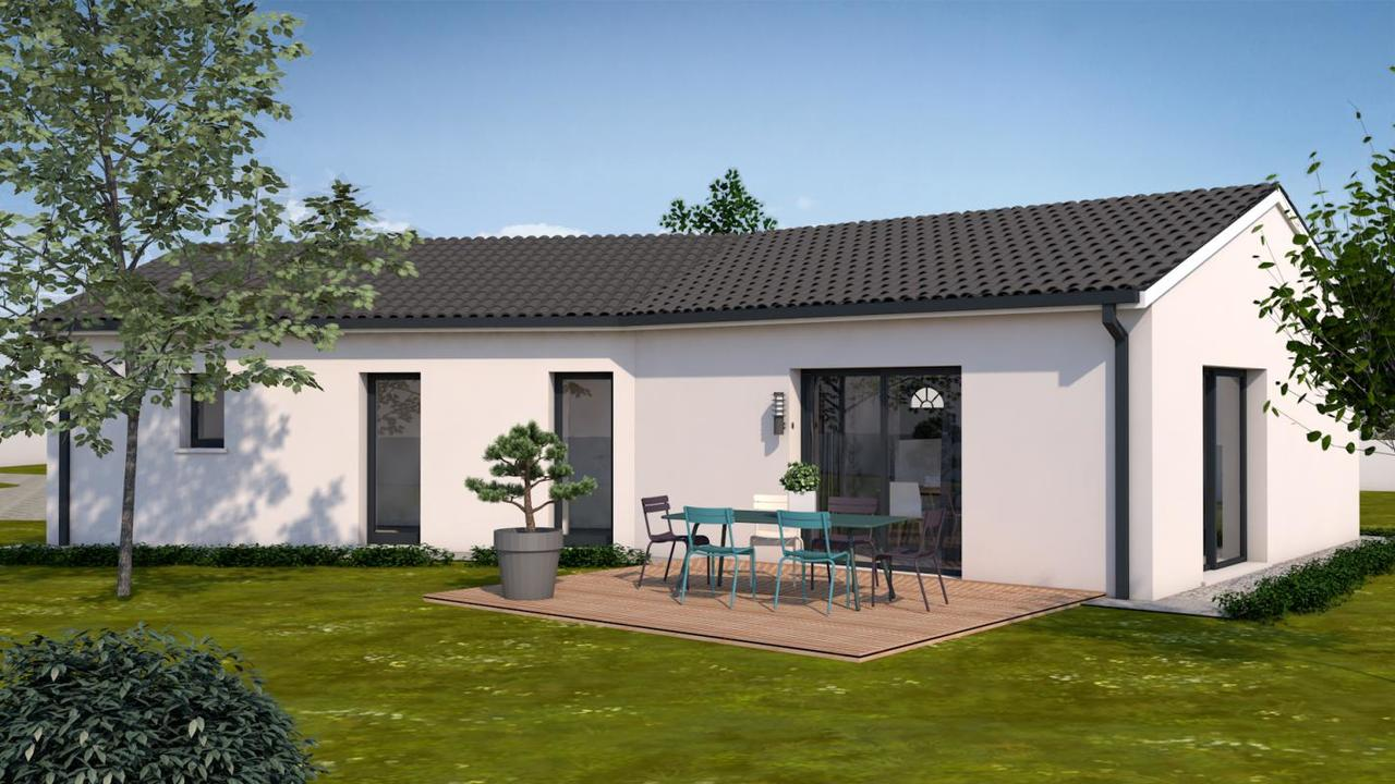 charmante villa 100m t4 constructeur de maisons toulouse. Black Bedroom Furniture Sets. Home Design Ideas