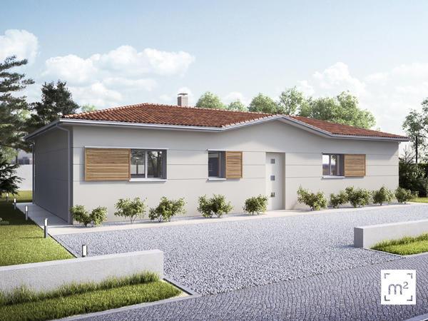 Maison en l 3 chambres constructeur de maisons bordeaux for Constructeur maison bordeaux
