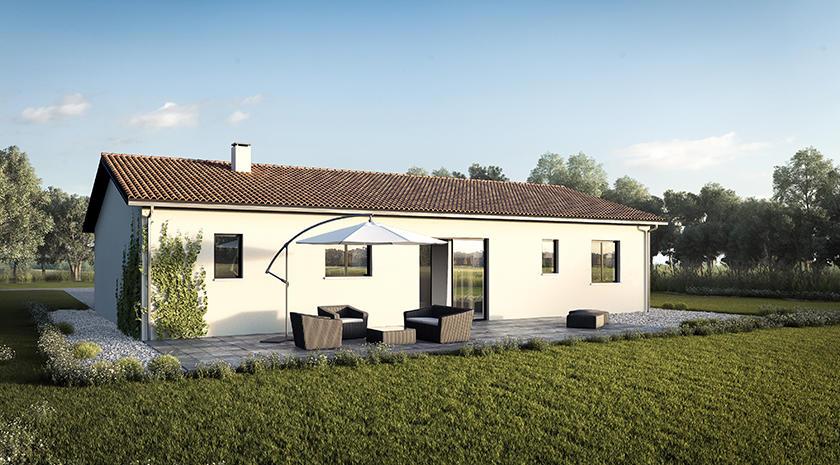maison 3 chambres st loubes constructeur de maisons. Black Bedroom Furniture Sets. Home Design Ideas