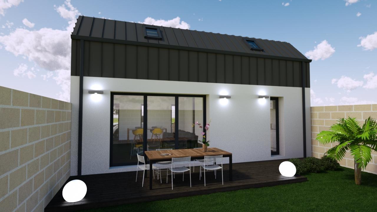 maison 100 m en l avec 3 chambres constructeur de. Black Bedroom Furniture Sets. Home Design Ideas