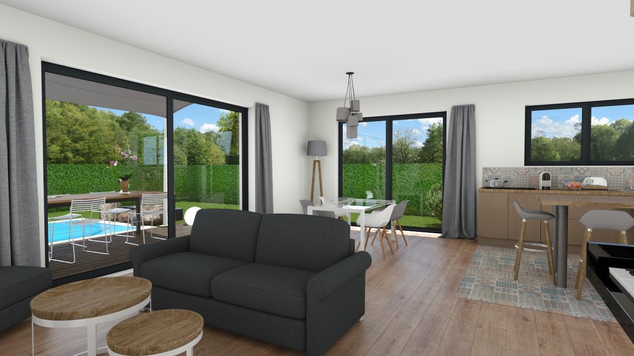 Belle maison contemporaine sur gradignan constructeur de for Belle maison contemporaine