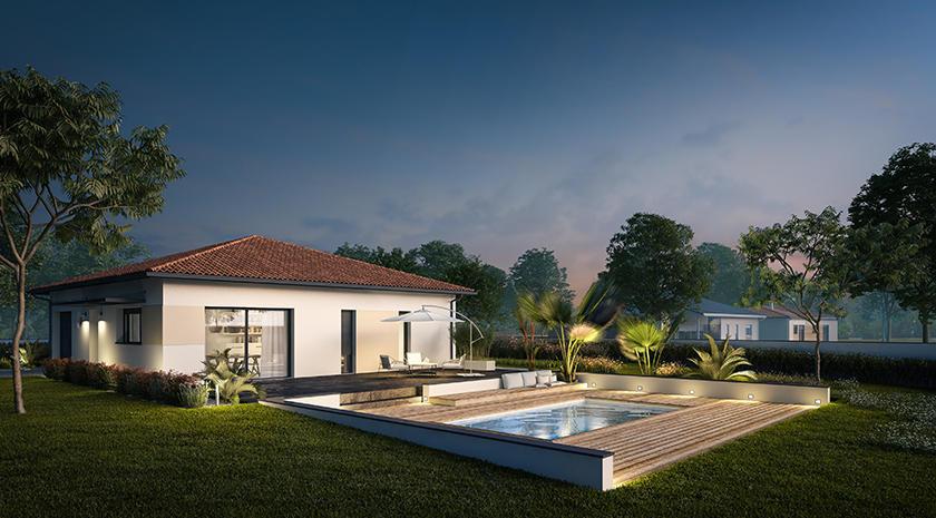 plan de maison carr e constructeur de maisons agen bordeaux toulouse m tre carr. Black Bedroom Furniture Sets. Home Design Ideas