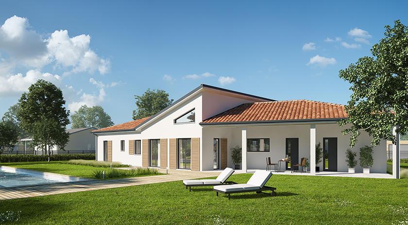 plan de maison contemporaine en v constructeur de. Black Bedroom Furniture Sets. Home Design Ideas