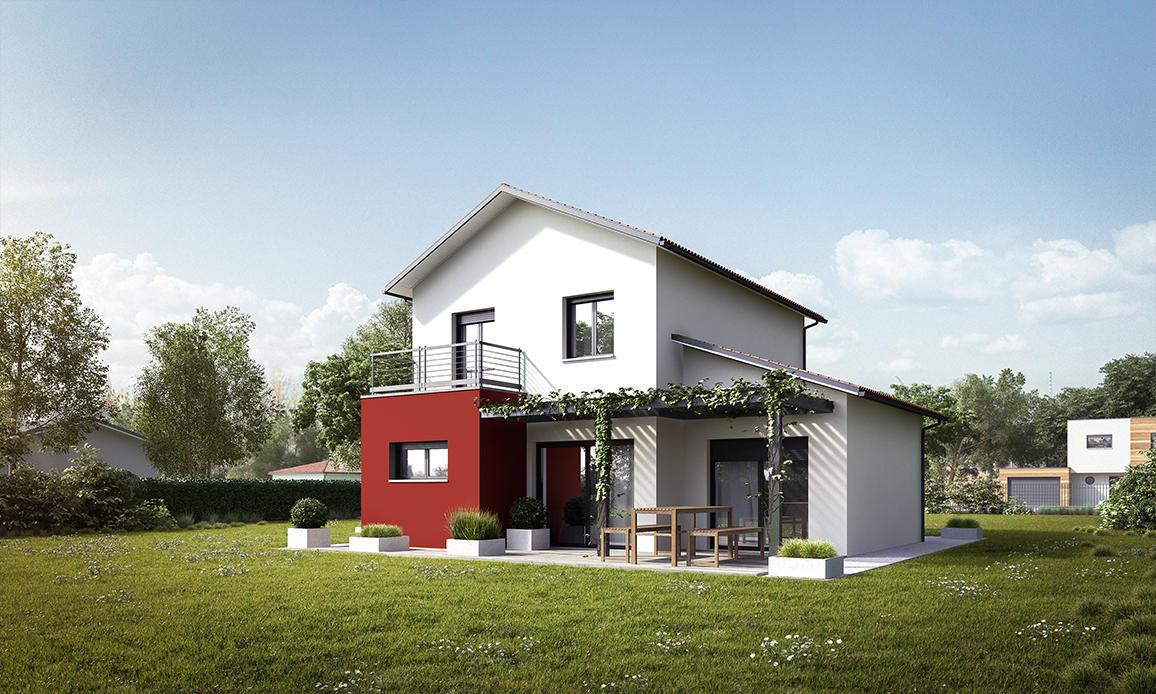 Elegant Maison Moderne à étage Avec Suite Parentale, Garage En Toiture Plate  Bordeaux Toulouse Agen