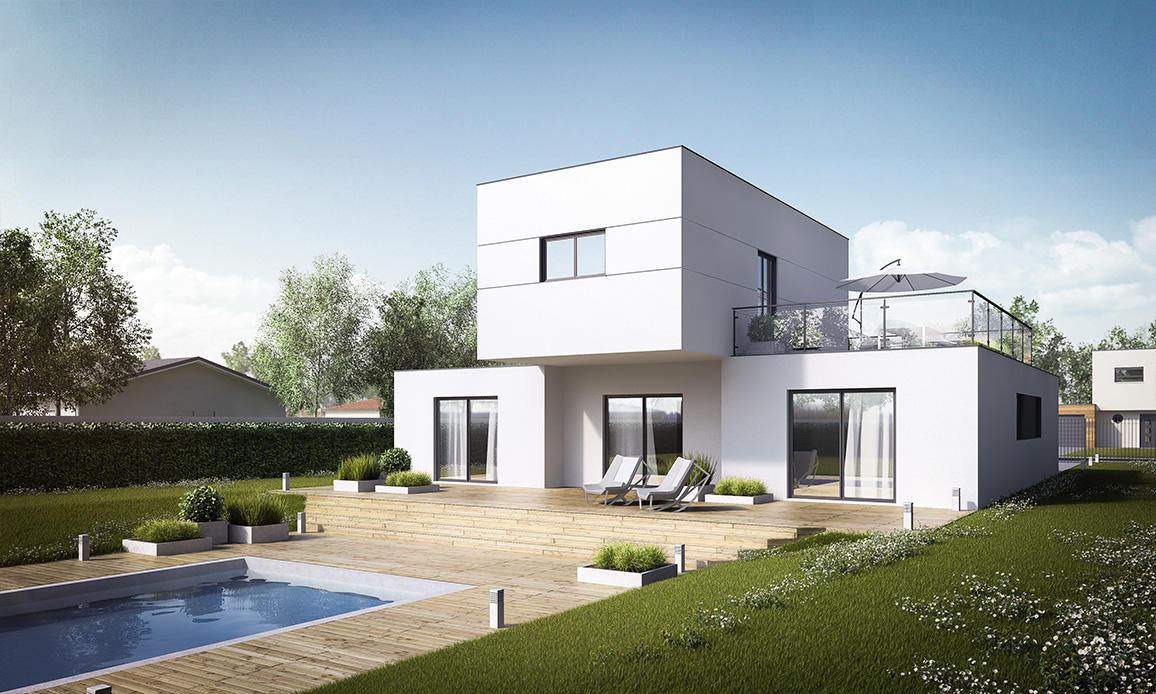 Maison moderne constructeur for Projet de maison neuve