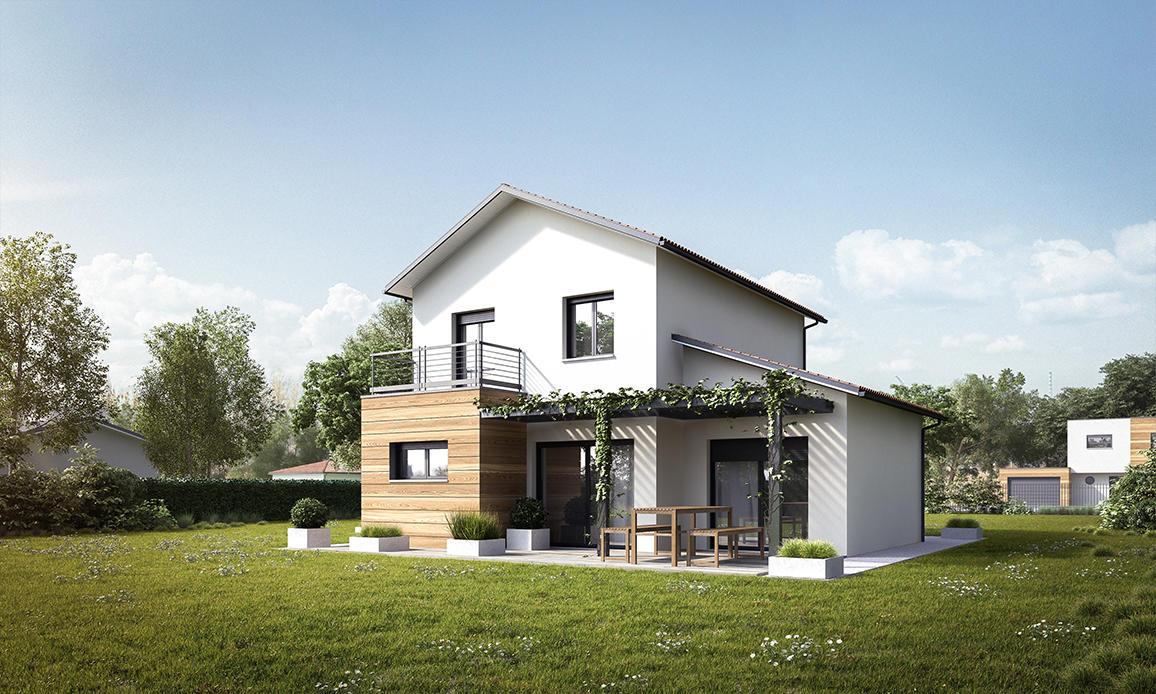 Maison neuve moderne maison neuve maison moderne avec for Achat maison neuve 42