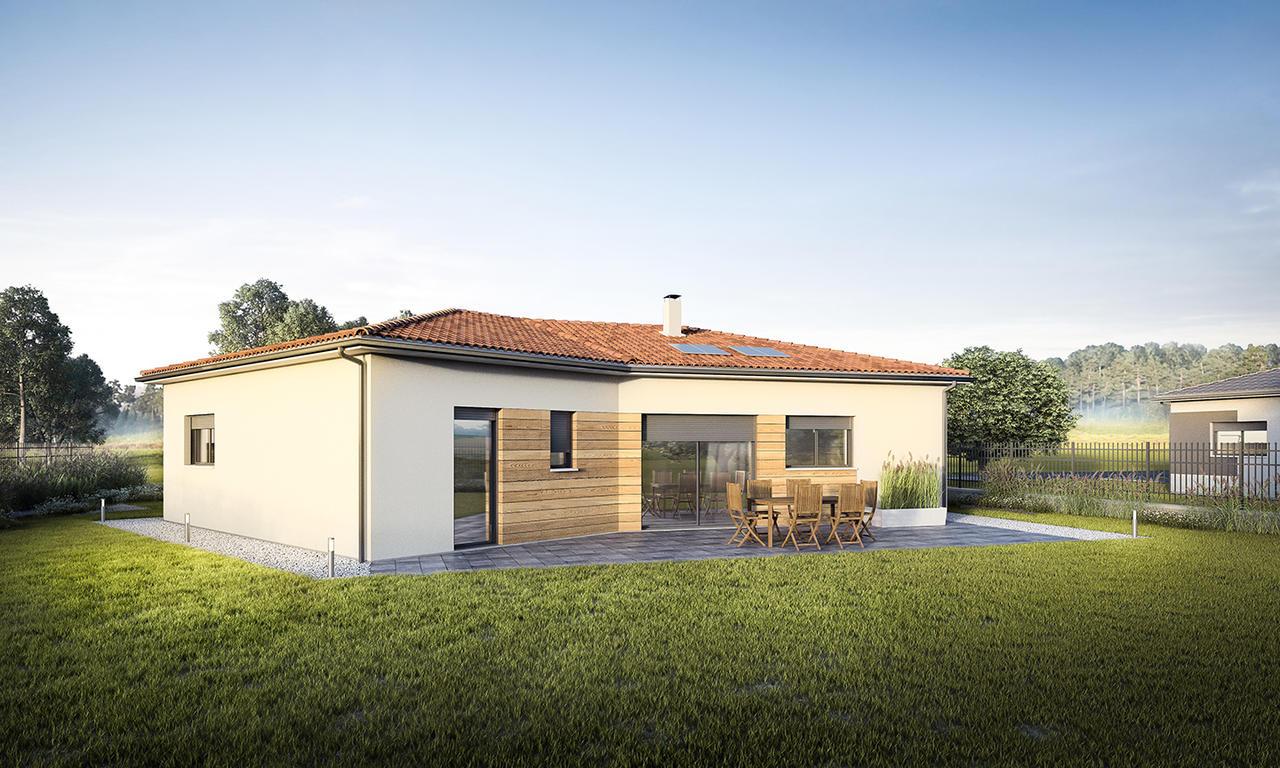 Modle De Maison En V Mtre Carr Agen Bordeaux Et Toulouse With Plan Maison  Avec Tour Carre