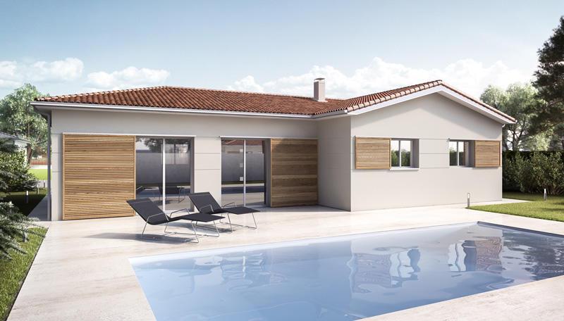 Plan De Maison Rt2012 En L | Constructeur De Maisons Mètre Carré