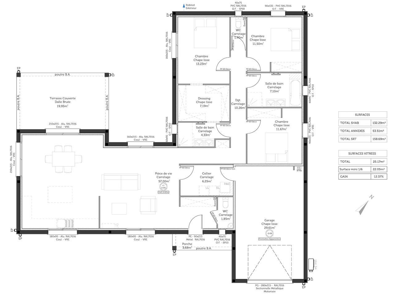 Une spacieuse maison contemporaine bon encontre for Bon plan construction maison