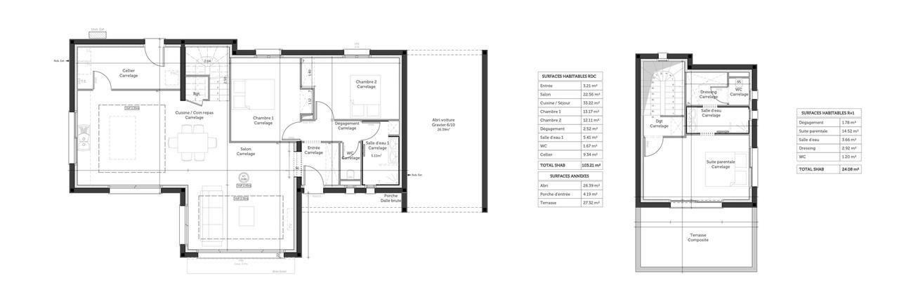 Prix maison toit plat 120m2 construire la maison toit for Plan maison toit plat 120m2