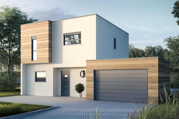 Plan de maison contemporaine - Constructeur Mètre Carré Agen Bordeaux et Toulouse