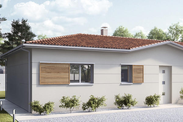 Maison en L RT2012 - Constructeur de maisons Mètre Carré Agen Bordeaux et Toulouse
