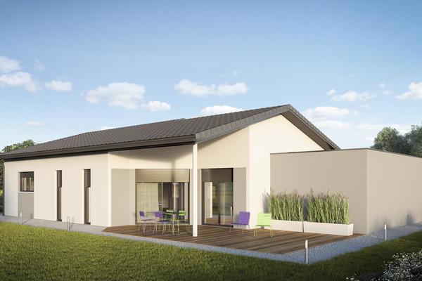 Centi une maison basse consommation contemporaine for Constructeur maison basse consommation