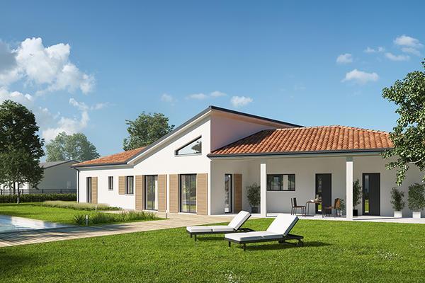 Plan de maison contemporaine - Mètre Carré Toulouse Agen Bordeaux