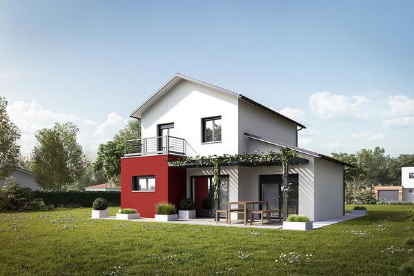Maison moderne à étage avec suite parentale, garage en toiture plate Bordeaux Toulouse Agen