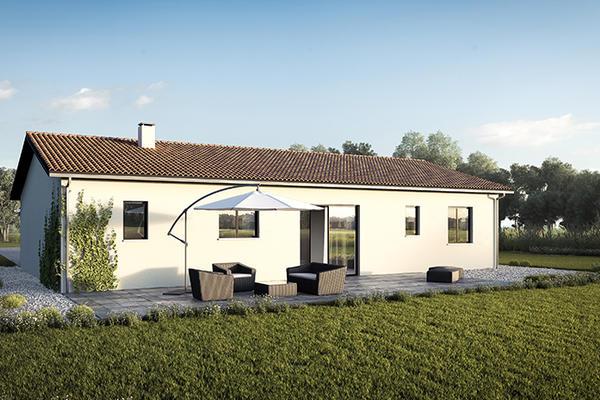 Plan du modèle Nano - Constructeur de maisons individuelles Mètre Carré Agen Bordeaux et Toulouse