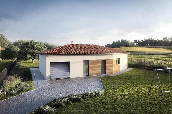 Plan de maison en V constructeur de maisons M2 Agen Bordeaux et Toulouse