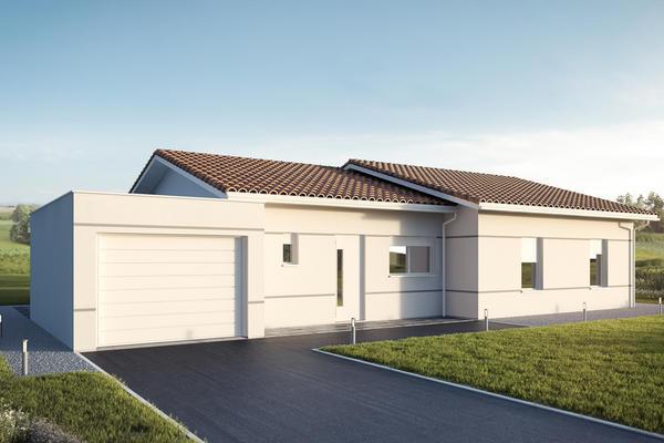 Maison neuve traditionnelle avec garage et terrasse couverte - maisons mètre carré Agen Bordeaux Toulouse