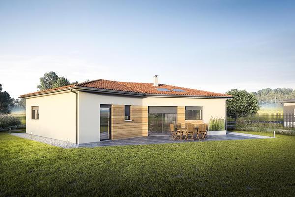 D ci une maison en v aux lignes audacieuses constructeur for Maison moderne carre