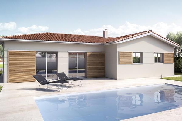 Mètre Carré : un modèle RT2012 en L avec piscine Agen Bordeaux et Toulouse