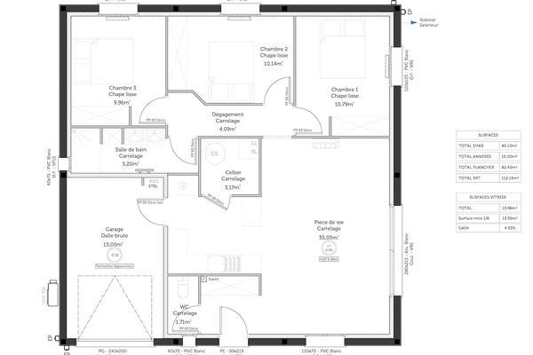 Plan de distribution d'une maison carré : Mètre Carré Constructeur Agen Bordeaux Toulouse