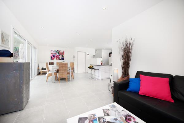 Salon maison neuve - Constructeur de maisons Mètre Carré Bordeaux