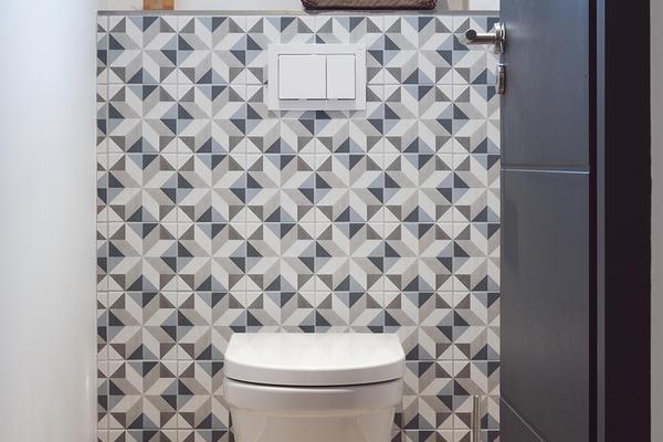 Carreaux de ciment pour WC suspendu constructeur de maisons Mètre Carré