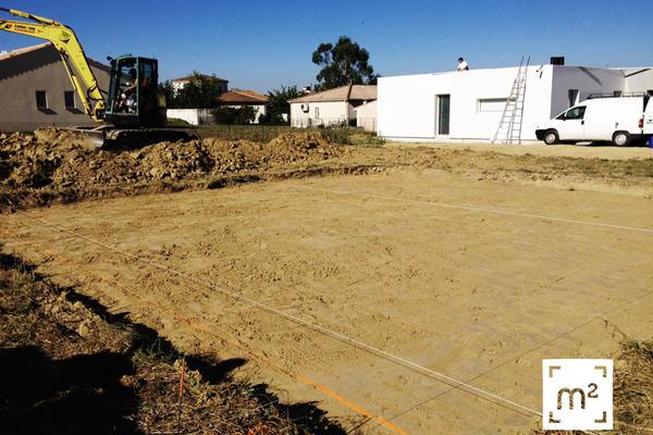 Préparation du chantier Mètre Carré : terrassement à Brax - Constructeur de maisons Mètre Carré