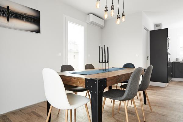 Salon salle à manger - Projet de construction maison neuve - Bordeaux