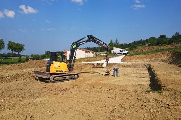 Construction : terrassement et préparation du terrain - projet Mètre Carré