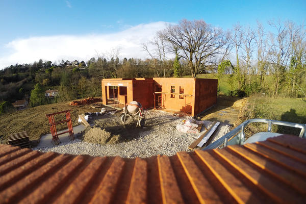 Construction d'une maison toiture plate à Bon Encontre