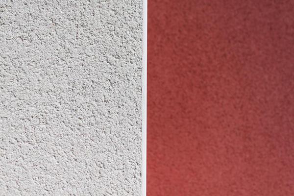 Enduit bicolore constrasté - Maison Mètre Carré