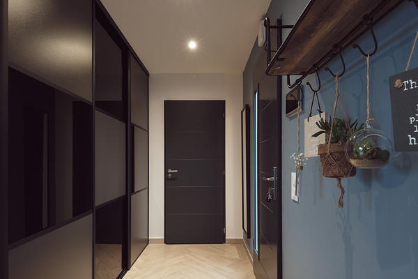 Placard intégré, entrée maison neuve construction Mètre Carré