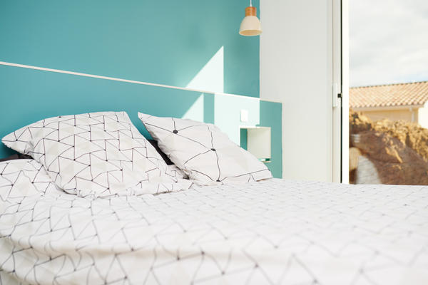 Suite parentale - cloison tête de lit - projet de construction Mètre Carré à Bordeaux
