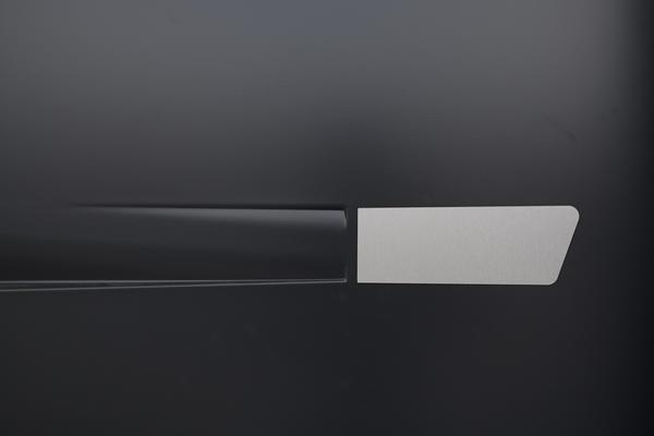 Porte d'entrée anthracite contemporaine - Maison neuve constructeur Mètre Carré