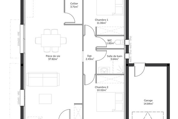 Plan Maison M Excellent Plan Maison M With Plan Maison M