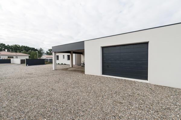 Garage toit plat et abris voiture - Constructeur Mètre Carré
