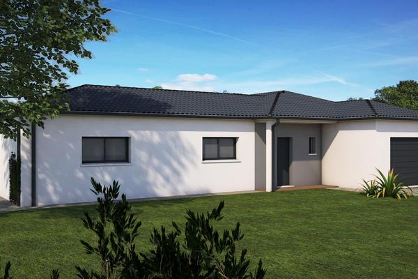Maison Mètre Carré 3d - Construction porche et enduit bicolore Agen Bordeaux Toulouse