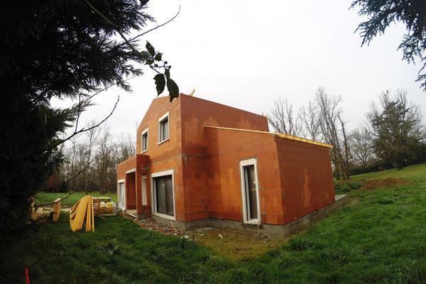Facade avant - Maison à étage RT2012 Constructeur Mètre Carré