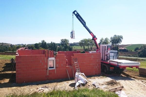 Construction : pose des menuiseries - projet Mètre Carré